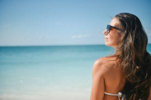 A Woman Enjoying the Beach in Florida