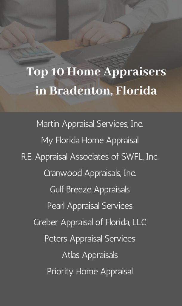 An Infographic Listing the Top 10 Bradenton FL Home Appraisers